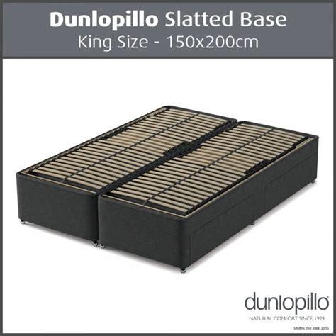 Slatted Bed Base King Dunlopillo Slatted Divan Base King Size 150x200cm