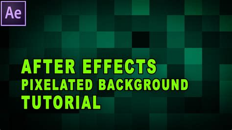 pixelated background after effects tutorial how to create an animated