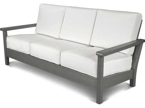 polywood sofa polywood 174 harbour recycled plastic deep seating sofa 4013