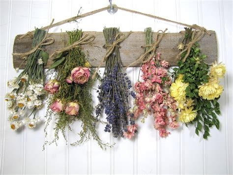 flowers decor dried flower rack dried floral arrangement wall decor dried