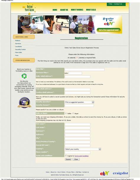internet scammers  yard salescom scam