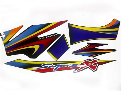 Striping Supra X One 2013 Hitam Hijau supra x autostrips jawa bali