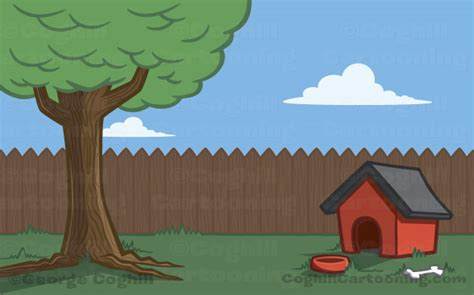 backyard clipart cartoon dog characters and background illustrations my