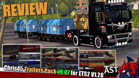 ets trailer mod chris trailers pack  review