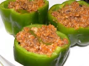stuffed green peppers recipe dishmaps