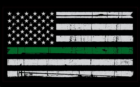 Wps189 Green Line Walpaper Dinding Wall Paper Stiker Sticker thin green line decal american flag support border patrol