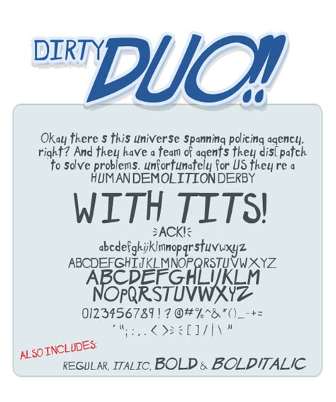 dafont pack dirty duo font dafont com