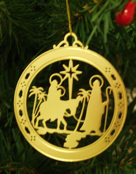 personalized nativity high polished brass christmas