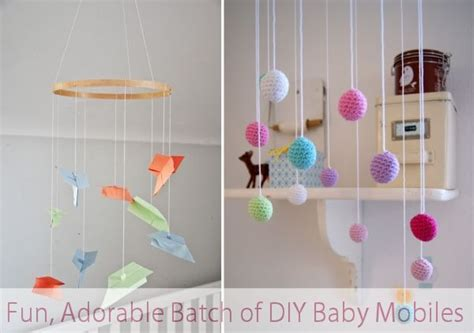 Handmade Baby Room Decorations - a adorable batch of diy baby mobiles