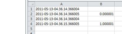 excel vba 函数︰ 计算两个日期秒 (也计数毫秒) 广瓜网