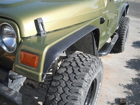 homemade jeep diy fender flares jeep yj diydry co