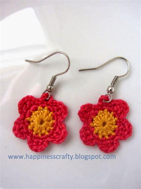 pattern crochet earrings crochet flower earrings free pattern crochet and art