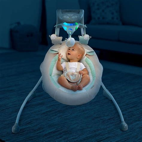 baby swing with lights baby infant ingenuity inlighten cradle swing with night