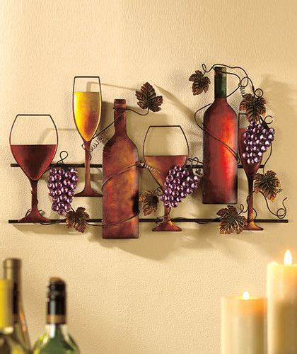 wine grapes metal wall hanging vineyard kitchen home decor