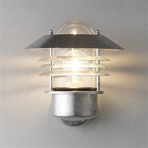 nordlux vejers outdoor wall light galvanised steel