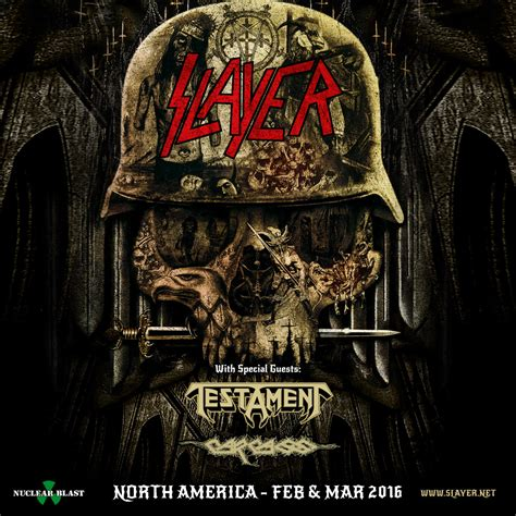 Onsale by Slayer Announces First Leg Of 2016 North American Tour