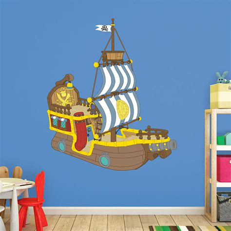 jake and the neverland wall stickers bucky the pirate ship jake and the neverland wall decal shop fathead 174 for jake and