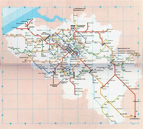 transport map brussels detailed transport map of belgium belgium detailed