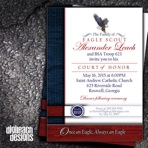 eagle scout court of honor invitation template eagle scout court of honor invitation eagle family digital