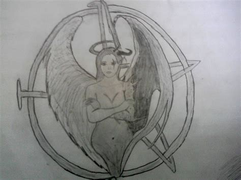 half angel half demon tattoo half half images