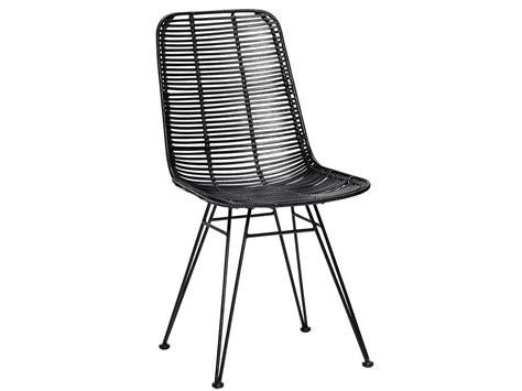 black chair rattan seat h 252 bsch studio rattan chair black metal living and co