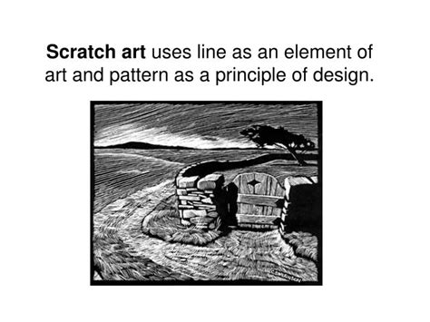 pattern is a principle of art that is created ppt scratch art uses line as an element of art and