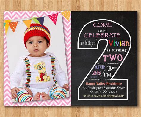 2nd Birthday Invitation Templates Free
