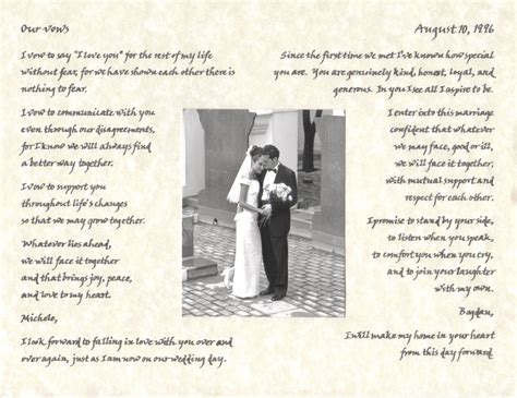 Wedding Vows For Second Marriage by Wedding Vow Exles Second Marriage Diy Wedding 18514