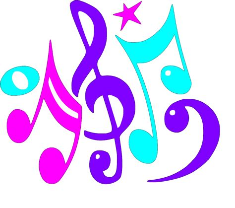 musica clipart coloured notes clipart best