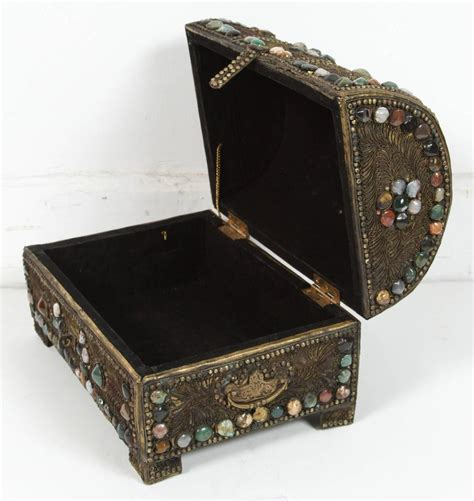Wedding Jewellery Box by Large Vintage Inlaid Moroccan Wedding Jewelry Box For Sale