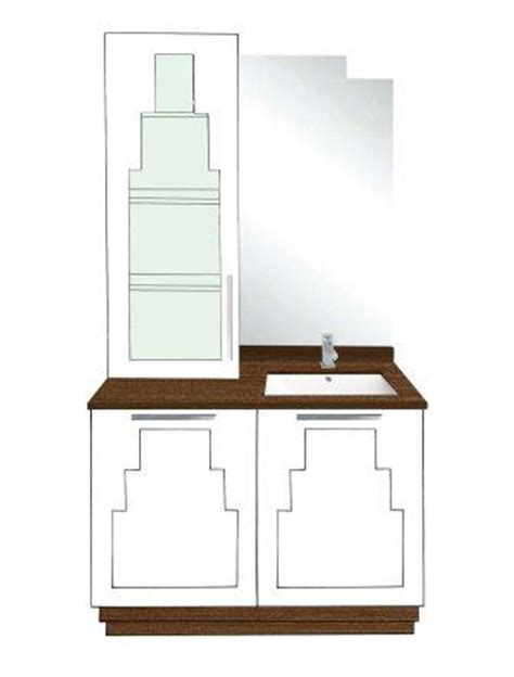 Deco Bathroom Vanity Unit by New Deco Skyscraper Style 2 Door Bathroom Vanity Unit