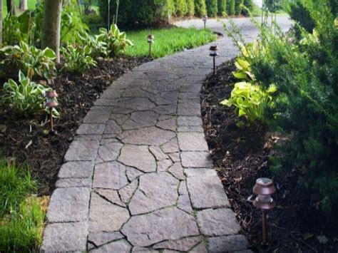Design Ideas For Flagstone Walkways Sidewalk Paver Patterns Paver Walkway Ideas Slate Walkways Ideas Interior Designs