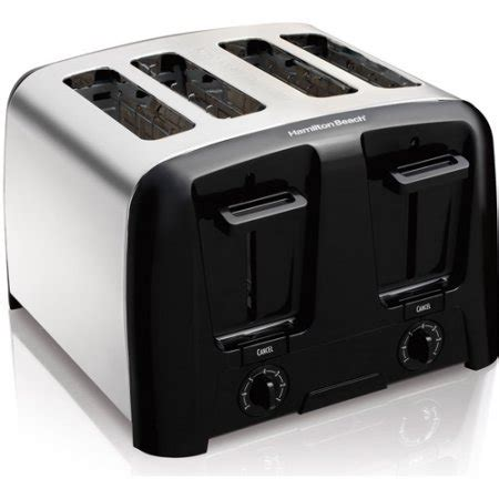 Cool Toaster Oven Hamilton Cool Wall 4 Slice Toaster Chrome Walmart