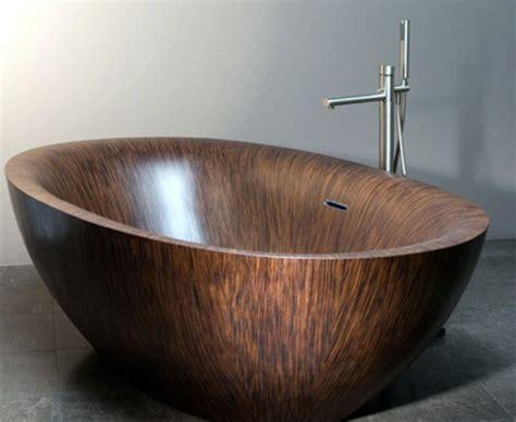 badezimmer vorschläge badewannen idee holz