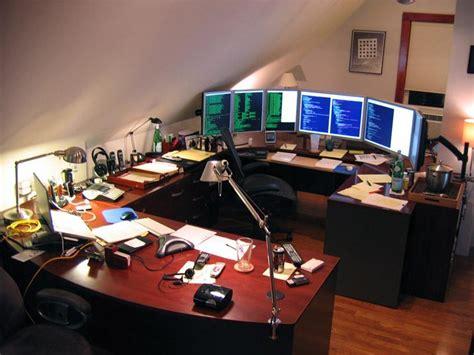 home office setups 11 eye popping home office setups five monitor arc