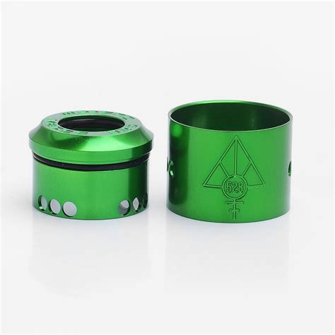 Authentic Colored Caps For Hoon 24 Rda By 528 Customs Authentic 528 Customs 24mm Goon Rda Green Gloss Top Cap Sleeve