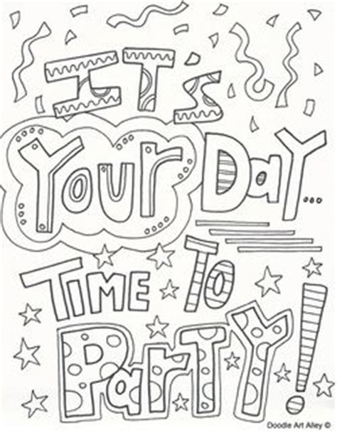 birthday coloring pages time  celebrate quote