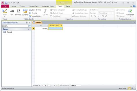microsoft access build access database