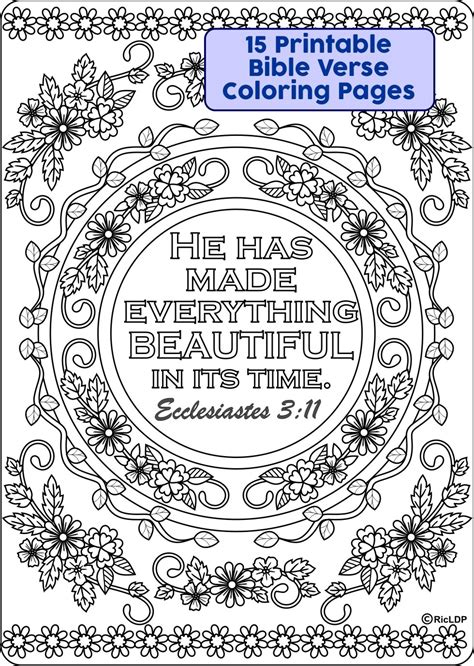 printable bible coloring pages 15 printable bible verse coloring pages ricldp artworks