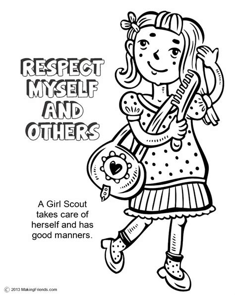 coloring pages about respect coloring pages