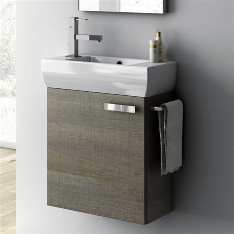 18 inch vanity cabinet with fitted sink contemporary