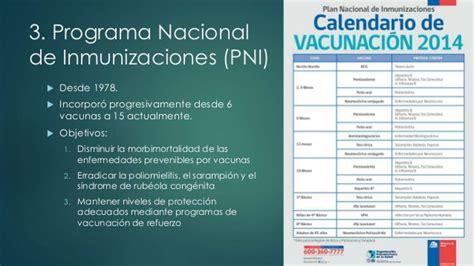 norma de inmunizaciones 2016 vacunas 2014 pni chile