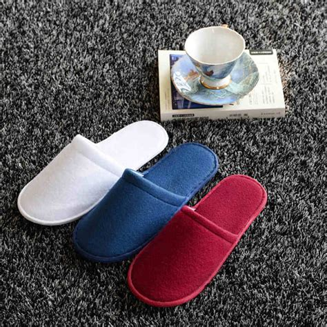 Travel Home Slippers 1 pair hotel travel disposable slippers home guest white