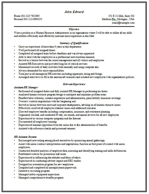hr manager cv format 10000 cv and resume sles with free content rich resume sle for hr manager