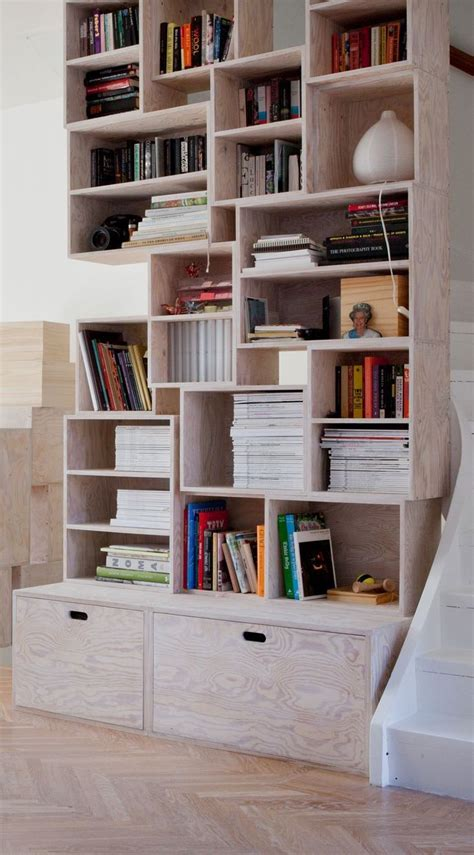 best 25 plywood bookcase ideas on