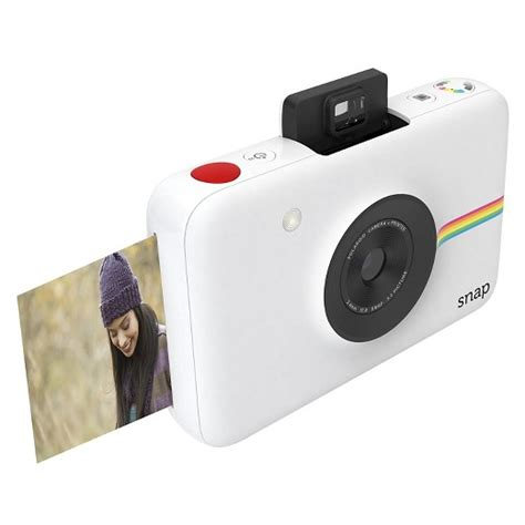 white polaroid polaroid snap digital instant white target