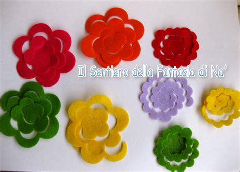 fiori di panno lenci fustellate pannolenci materiali stoffa e filati