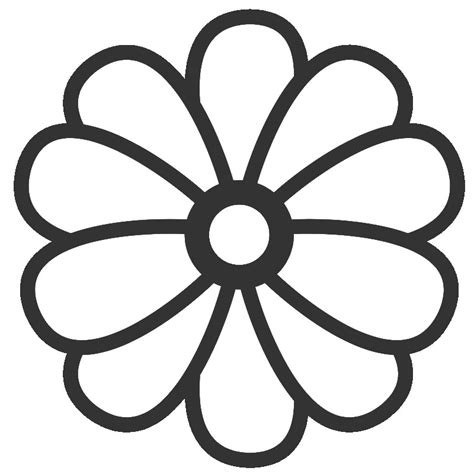 flower colouring template big flower coloring pages flower coloring page