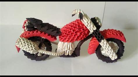 How To Make An Origami Bike - amazing 3d origami bike motorcycle