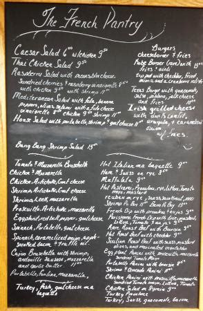 The Pantry Jacksonville Fl Menu by Outside Front Door Menu Marquis Picture Of The